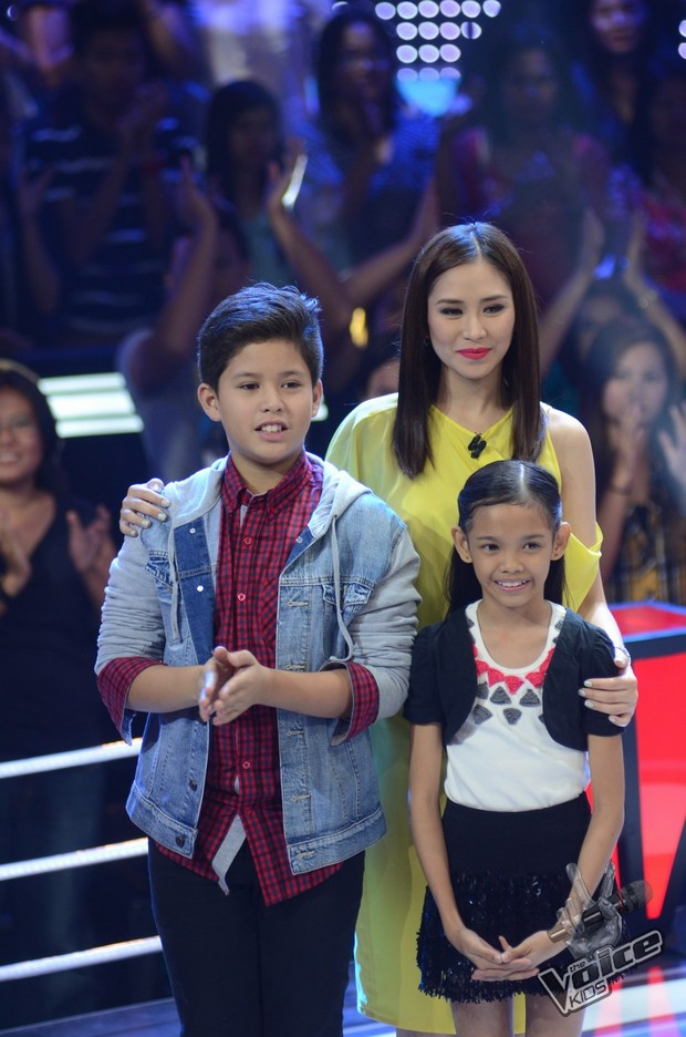 Kyle & Zephanie, Team Sarah's Top 2 in The Voice Kids ...